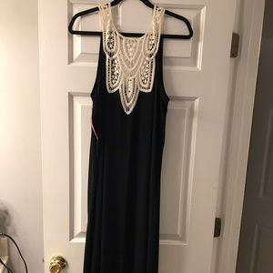 NWT Merona maxi dress XL black & cream